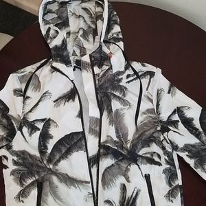 NWT Mossimo Palm print wind breaker